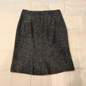 Ann Taylor Dark Grey Wool A Line Skirt
